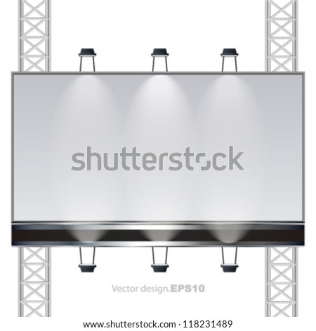 empty billboard, banner ad abstract background. vector design.