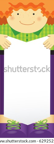 Empty blank. Family theme, boy. Any text of your choice. - stock vector