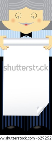 Empty blank. Family theme, man. Any text of your choice. - stock vector