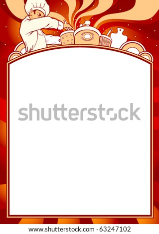 Empty blank of menu. Any cuisine theme. Ready for the text of your choice. - stock vector