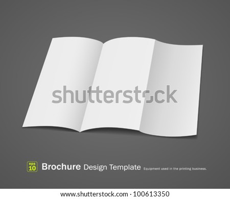Empty brochure design template, vector illustration