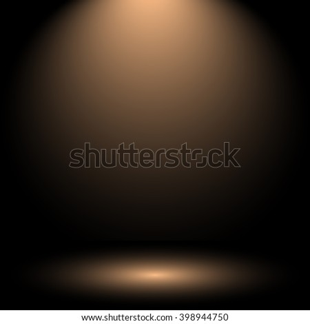 Empty brown Studio well use as background,web template,backdrop. Vector Illustrator. - stock vector
