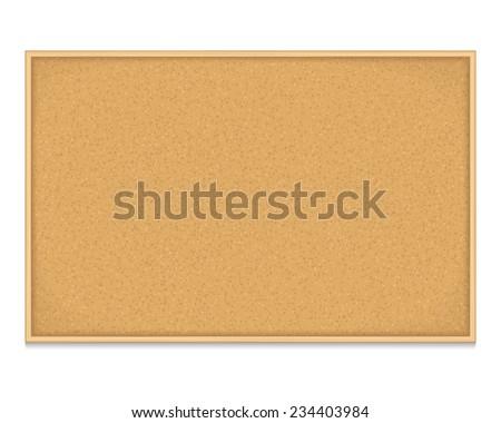 Empty bulletin board on white background, vector eps10 illustration - stock vector