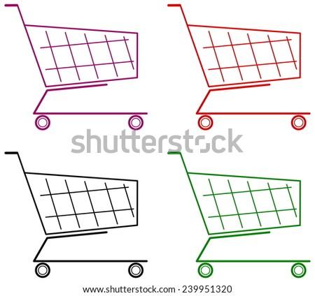 empty cart - stock vector