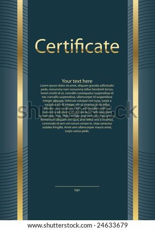 empty certificate model - stock vector