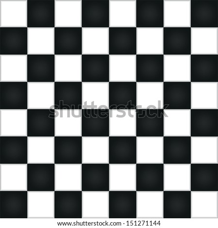 Empty chess board, VECTOR, EPS10 - stock vector