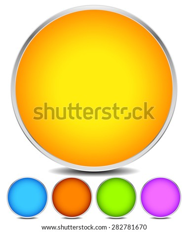 Empty colorful circle shape, circle element, vector eps 10. - stock vector