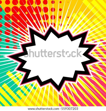 Empty Comic Speech Bubble Colored Halftone Stock Vector 559307203 ...