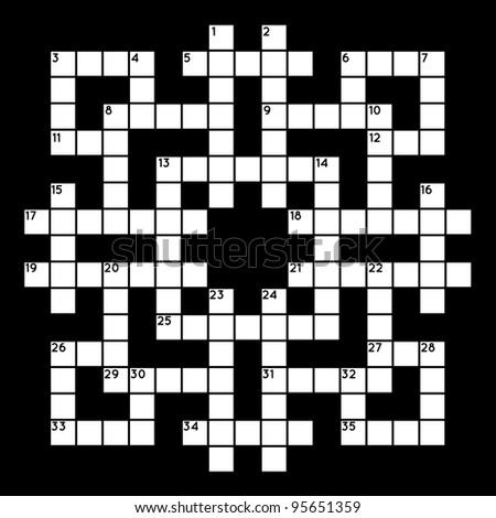 Empty crossword grid - stock vector