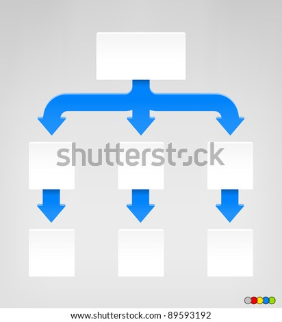 Empty Diagram in EPS 8 format with high resolution JPEG. EPS file contains five color variations in different layers. - stock vector