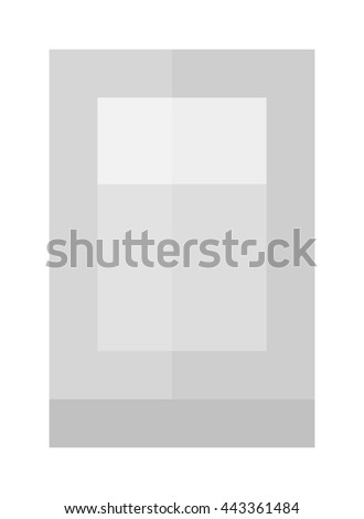 Empty drinking glass transparent liquid reflection blank alcohol single cup. Transparent empty glass cup vector illustration. Drink object, white water clear empty glass cup purity thirst. - stock vector