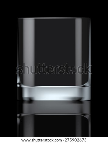 Empty drinking glass, transparent vector