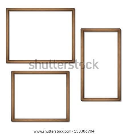 Empty frames of wood - stock vector