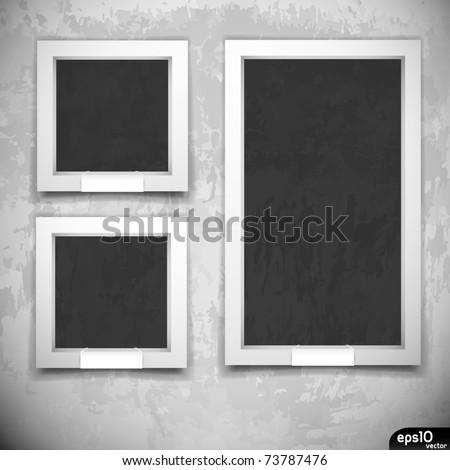 empty frames on grunge wall museum or gallery interior - Museum Frames