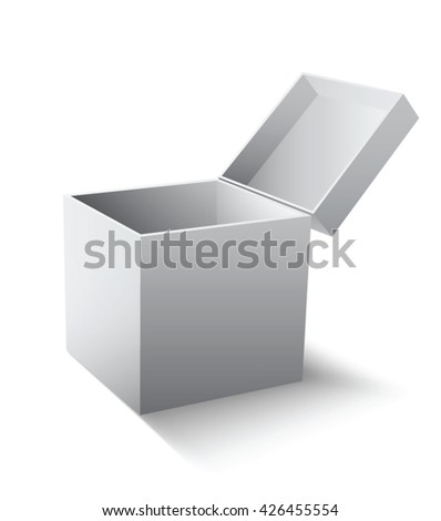 Empty gift box. Vector illustration.