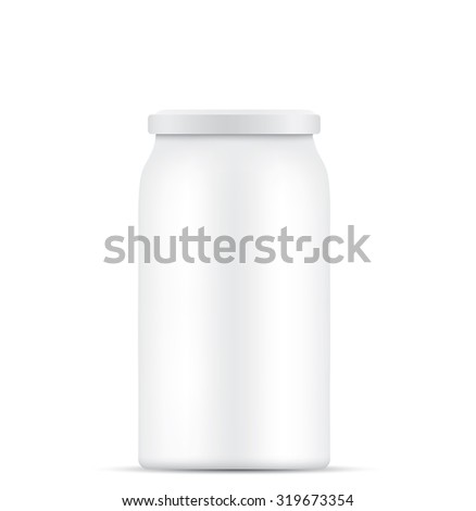 Empty glass jar - stock vector