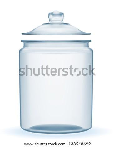 Empty Glass Jar Vector Eps10 Stock Vector 138548699 - Shutterstock