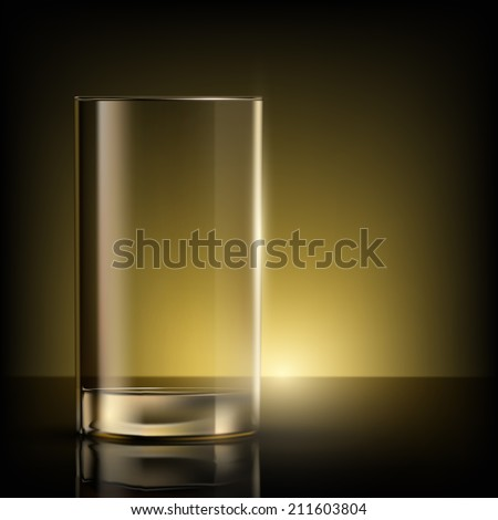 empty glass on the table - stock vector