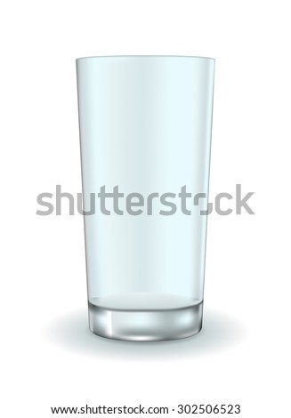 Empty glass. Vector Illustration isolated on white background
