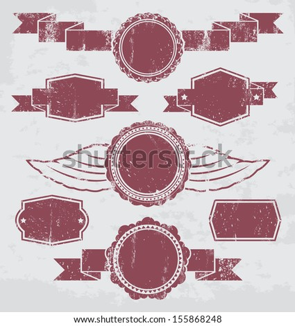 Empty grunge elements. Grunge effect is applied. EPS8. - stock vector