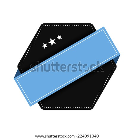 Empty label template - stock vector