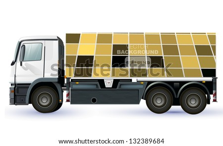 empty lorry or truck to place your concept. vector design - stock vector