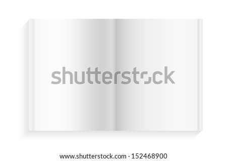Empty magazine on white background - Vector illustration - stock vector