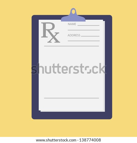 Empty medical prescription