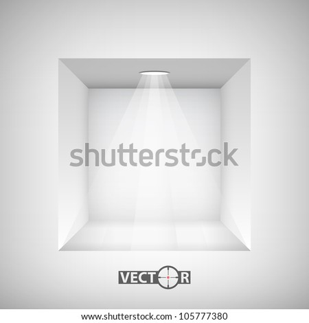Empty niche for exhibit, vector illustration, eps10, easy editable, 4 layers - stock vector