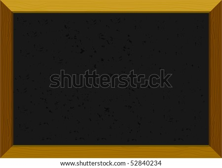 Empty old-fashioned chalkboard with a wooden frame - stock vector