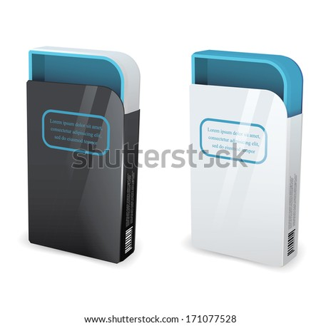 Empty package box mock-up. Vector illustration.?????? - stock vector