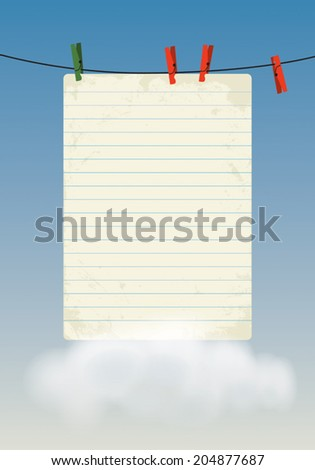 Empty paper sheet illustration.