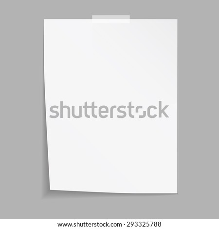 Empty paper sheet. Vector EPS10