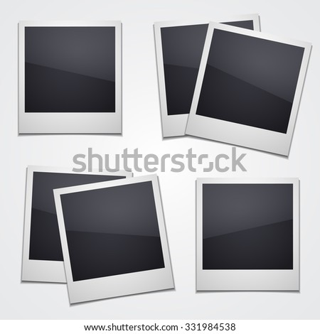 Empty photo illustration isolated on white background. Vector art. - stock vector
