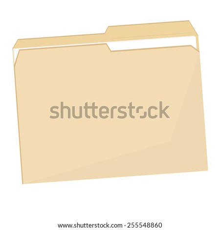 Empty plastic file folder vector icon isolated on white - stock vector