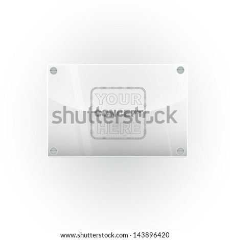 empty plastic placard to place your name or concept