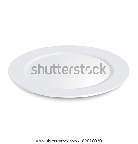 Empty plate isolated on a white background