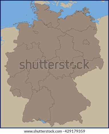 Empty political map germany stock vector 429179359 shutterstock empty political map of germany gumiabroncs Choice Image