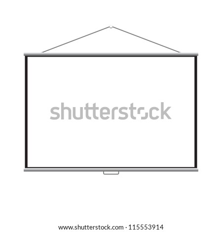 Empty projection screen vector EPS 8 - stock vector