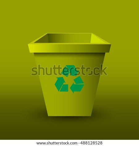 Empty recycle bin. Vector illustration.