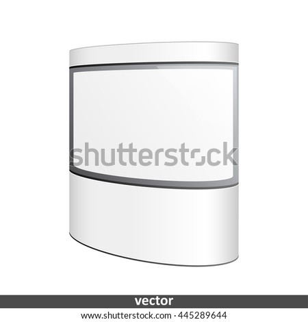 Empty retail stand. Illustration isolated on white background. Graphic concept for your design
