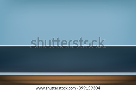 empty room, navy blue wall background with wood floor