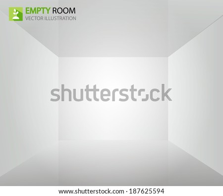 empty room. vector illustration - stock vector
