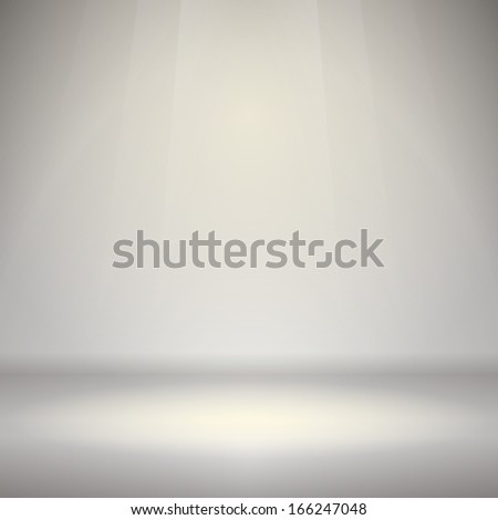 Empty Room with Light - stock vector
