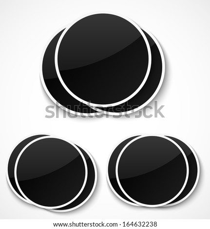 Empty round photo frames on white background. Vector illustration - stock vector