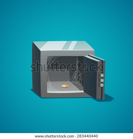 Empty safe. Isolated object  background.