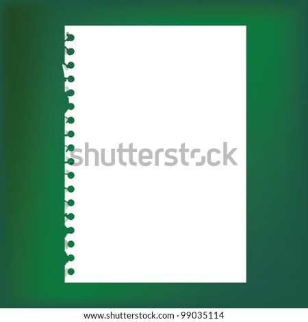 empty sheet of paper - stock vector