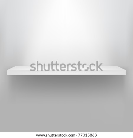 Empty Shelf For Exhibit, Vector Illustration - stock vector
