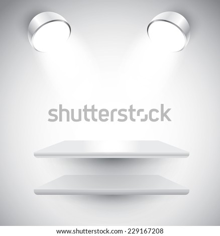 Empty shelves, vector - stock vector