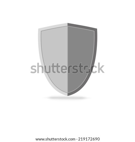 Empty shield with place for your emblem, shield vector icon - stock vector